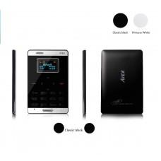 AIEK M3, Ultra Thin Card Mobile Phone, Black