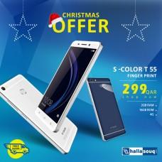 S Color T55 Fingerprint Smart Phone, 4G