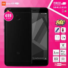 Xiaomi Redmi 4X Dual Sim - 32GB, 3GB RAM, 4G LTE, Black