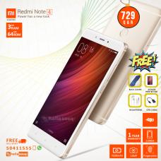 XIAOMI Redmi Note 4  3GB RAM 64GB ROM 4G  GOLD