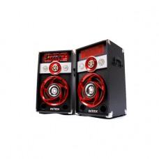 INTEX DJ SPEAKER 2.0 CH DJ-601SUF (BT/USB/SD/MMC/FM/RC), Black