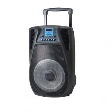 INTEX TROLLEY SPEAKER TSF28 BT (USB/SD/FM/RC/ 2MIC/MP/BT), Black
