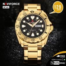 NF 001 NAVIFORCE Luxury Brand Men Sport Watches Mens Quartz Analog Clock Man Military Waterproof Full Steel Watch Men