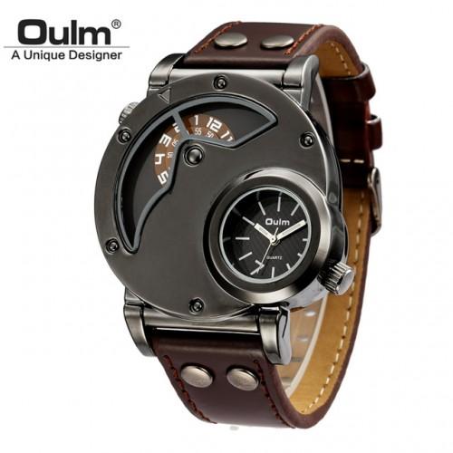 476841304b3 ... OM 001 Oulm Watch Man Quartz Watches Top Brand Luxury Leather Strap  Military Sport Wristwatch Male