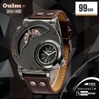 OM 001 Oulm Watch Man Quartz Watches Top Brand Luxury Leather Strap Military Sport Wristwatch Male Clock relogio masculino