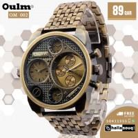 OM 002 Oulm Luxury Brand Men Full Steel Quartz Watch Golden Big Size Men's Watches Antique Military Watch Male Relogio Masculino