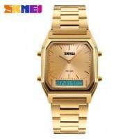 SKMEI SK 012 Alloy Case 30M Waterproof Luminous Business Classic Quartz Digital Dual Display Watch