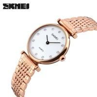 SKMEI SK 1223 Women Quartz Watches Luxury Stainless Steel Strap Fashion Ladies Watch Shell Dial Wristwatch