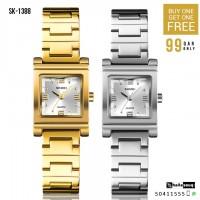 SKMEI SK 1388 Luxury Women Watch Creative Bracelet Watches Buy 1 Get 1 Free @ 99QAR