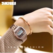 SKMEI SK 1474 Fashion Women Watch Digital Watches 30M Waterproof Week Display Case Alloy Digital Wristwatch