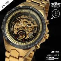 WN 008 Winner New Number Sport Design Bezel Golden Watch Mens Watches Top Brand Luxury Montre Homme Clock Men Automatic Skeleton Watch