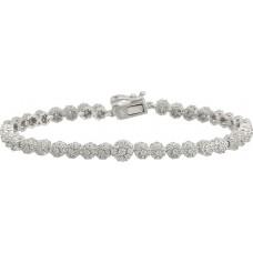 Ak Silver Women's Valentine Charm Bracelet - 10.1 g