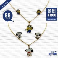 DCG 003 Cartoon Necklace Earrings Set for children's