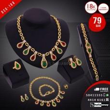 DCG 108 Fashion Necklace Earrings & Bracelet Set for women, buy 1 @ 79 QAR
