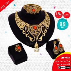 DCG 106 Fashion Necklace Earrings & Bangle Set for women, buy 1 @ 99 QAR