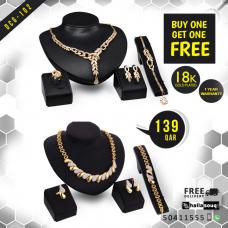 DCG 102 Fashion Necklace Earrings & Bracelet Set for women, buy 1 get 1 free @139 QAR