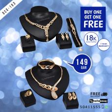 DCG 103 Fashion Necklace Earrings & Bracelet Set for women, buy 1 get 1 free @149 QAR