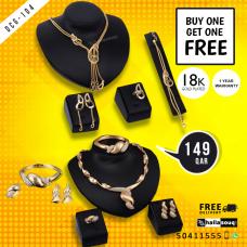 DCG 104 Fashion Necklace Earrings & Bracelet Set for women, buy 1 get 1 free @149 QAR