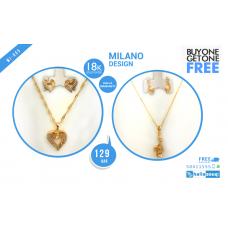 MI 005 Milano 18K Gold Plated Buy 1 & Get 1 Free @129 QAR
