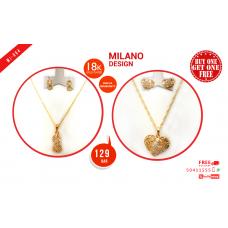 MI 004 Milano  18K Gold Plated Buy 1 & Get 1 Free @129 QAR