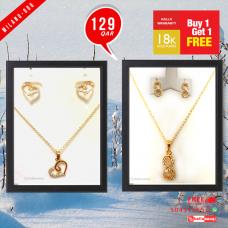 MI 006 Milano 18K Gold Plated Buy 1 & Get 1 Free @129 QAR