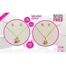 MI 007 Milano  18K Gold Plated Buy 1 & Get 1 Free @129 QAR