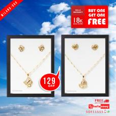 MI 008 Milano Fashion  Jewelry 18K Gold Plated Buy 1 & Get 1 Free @129 QAR