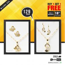 MI 009 Milano 18K Gold Plated Buy 1 & Get 1 Free @129 QAR