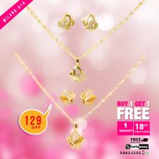MI 014 Milano Fashion  Jewelry 18K Gold Plated Buy 1 & Get 1 Free @129 QAR