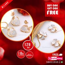 MI 001 18K Plated fashion jewelry Buy 1 & Get 1 Free