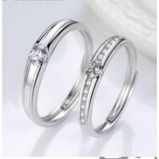 DA 003 DEEANA 925 SILVER COUPLE RING @ 89 QAR