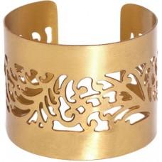 Blueberry Women's Metal Cut Out Gold Metal Cuff Bracelet