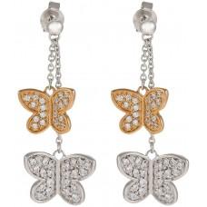 Esprit Women's 925 Sterling Silver Butterfly Drop Earrings - ESER91260B000