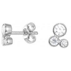 Esprit Women's Rhodium Plated 925 Silver Stud Earrings - ESER92679A000