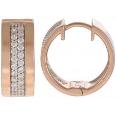 Esprit Women's 925 Sterling Silver Pure Pave Rose Hoop Earrings - ESCO91644C000
