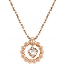 Esprit Women's Rose Gold Plated 925 Silver Pallet Heart Necklace - ESNL92073C420