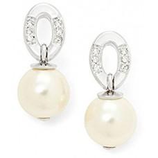 Fossil Women's Silver Drop Earrings - JFS00128040