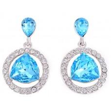Swarovski Elements 18K White Gold Plated Earrings For Women SWR-219