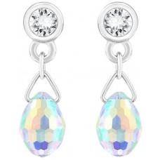 Swarovski Women's Aurora Borealis Pierced Earrings