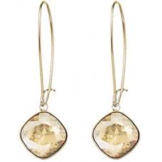 Swarovski Women's Gold Plated Thankful Shadow Pierced Earrings