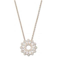 Swarovski Women's Gold Plated Round Asset Necklace - 5048035