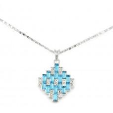 Swarovski Elements 18K White Gold Plated Necklace For Women SWR-210