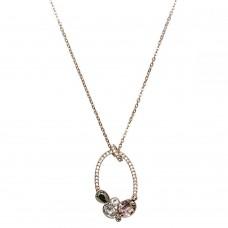 Swarovski Women's Rose Gold Plated Branch Pendant Necklace