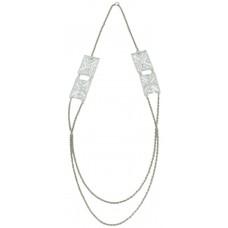 Trinketree Women's Alloy Laser Cut Acrylic Geometric Necklace - 16 Inch