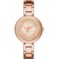 Armani Exchange Julietta Women's Rose Gold Dial Stainless Steel Band Watch - AX4222