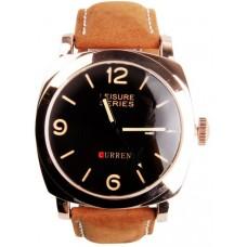 CURREN 8158 Men's Waterproof Quartz Watch Men's Leather Strap Band