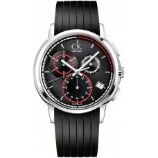 Calvin Klein K1V27704 Drive Men's Black Dial Rubber Band Watch