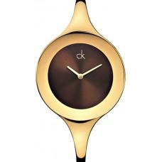 Calvin Klein Women's Brown Dial Stainless Steel Band Watch - K2823203