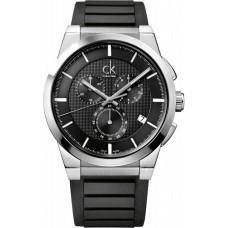 Calvin Klein Men's Black Dial Rubber Band Watch - K2S371D1