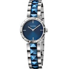 Calvin Klein Edge Women's Blue Dial Stainless Steel Band Watch - K5T33T4N